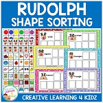 Rudolph Shape Sorting Boards Christmas ~Digital Download~