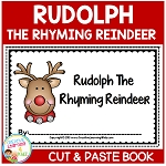 Rudolph the Rhyming Reindeer Cut & Paste Book Christmas ~Digital Download~