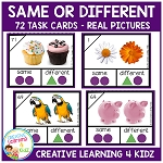 Same or Different Task Cards ~Digital Download~