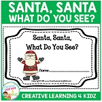 Christmas Santa, Santa What Do You See? Cut & Paste Book ~Digital Download~