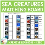 Sea Creatures Board ~Digital Download~