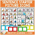 Sentence Starter Picture Icons ~Digital Download~