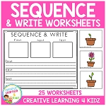 Sequence & Write Worksheets ~Digital Download~
