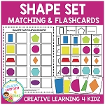 Shape Matching Board & Flashcards ~Digital Download~