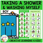 Taking a Shower (Boy) & Washing Myself (Boy) Visual Charts ~Digital Download~
