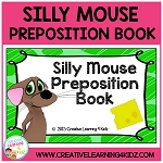 Preposition Silly Mouse Cut & Paste Book ~Digital Download~