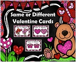 Same or Different Valentine Cards ~Digital Download~