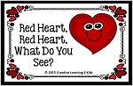 Valentine's Day Red Heart, Red Heart, What Do You See? Color & Matching Book ~Digital Download~