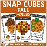 Snap Cubes Activity - Fall ~Digital Download~