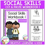 Cut & Paste Social Skills Workbook 1 ~Digital Download~