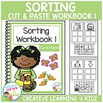 Cut & Paste Sorting Workbook 1 ~Digital Download~
