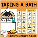 Taking a Bath Girl & Boy Visual Charts ~Digital Download~