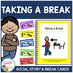 Social Story Taking a Break Book + Break Cards ~Digital Download~