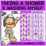Taking a Shower & Washing Myself Girl Visual Charts ~Digital Download~