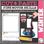 Cut and Paste Fine Motor Skills Puzzle Worksheets: Winter ~Digital Download~