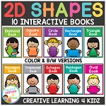 2D Shapes Interactive Book Bundle ~Digital Download~
