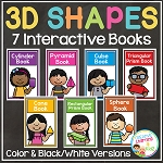 3D Shapes Interactive Book Bundle ~Digital Download~