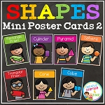 3D Shape Mini Poster Cards ~Digital Download~