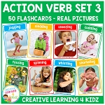Action Verb Cards Set 3 ~Digital Download~