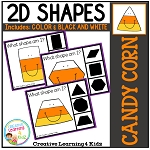 Shape Clip Cards: Candy Corn ~Digital Download~