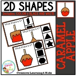 Shape Clip Cards: Caramel Apple ~Digital Download~
