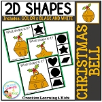 Shape Clip Cards: Christmas Bell ~Digital Download~