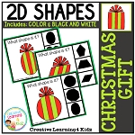 Shape Clip Cards: Christmas Gift ~Digital Download~
