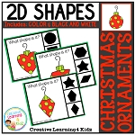 Shape Clip Cards: Christmas Ornament ~Digital Download~
