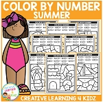 Color By Number: Summer ~Digital Download~