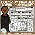 Color By Number: Martin Luther King Day ~Digital Download~