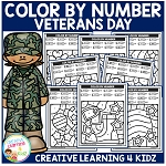 Color By Number: Veterans Day ~Digital Download~