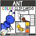 Color Clip Cards: Ant ~Digital Download~