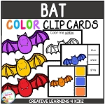 Color Clip Cards: Bat ~Digital Download~