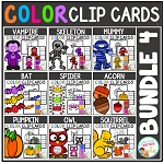 Color Clip Cards: Bundle 4 ~Digital Download~