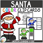 Color Clip Cards: Santa ~Digital Download~
