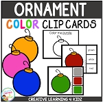 Color Clip Cards: Christmas Ornament ~Digital Download~