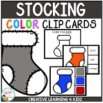 Color Clip Cards: Christmas Stocking ~Digital Download~