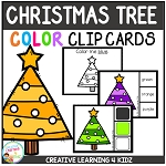 Color Clip Cards: Christmas Tree ~Digital Download~