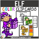 Color Clip Cards: Christmas Elf ~Digital Download~