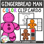 Color Clip Cards: Gingerbread Man ~Digital Download~