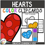 Color Clip Cards: Valentine's Day Hearts ~Digital Download~