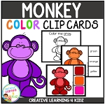 Color Clip Cards: Monkey ~Digital Download~