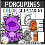 Color Clip Cards: Porcupine ~Digital Download~