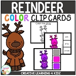 Color Clip Cards: Reindeer ~Digital Download~