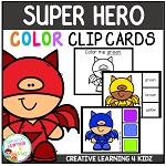 Color Clip Cards: Super Hero ~Digital Download~