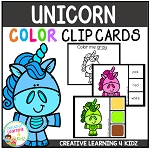 Color Clip Cards: Unicorn ~Digital Download~