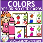 Color Yes or No Clip Cards ~Digital Download~