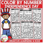 Color By Number: Independence Day - July 4th ~Digital Download~
