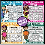 Color By Number: Seasons Bundle ~Digital Download~