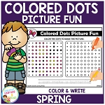Colored Dots Picture Fun: Spring ~Digital Download~
